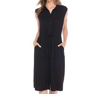 M Eileen Fisher Black Jersey Classic Dress